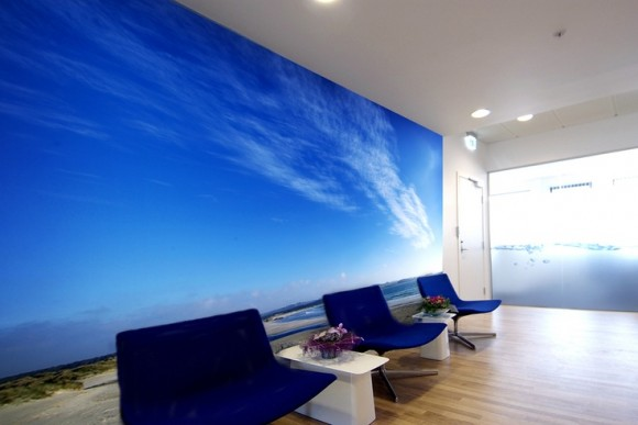 Design of an office with photo wallpapers world of wall for Wallpaper design for office wall