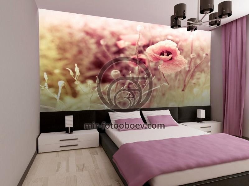 спальня с фотообоями мир фотообоев