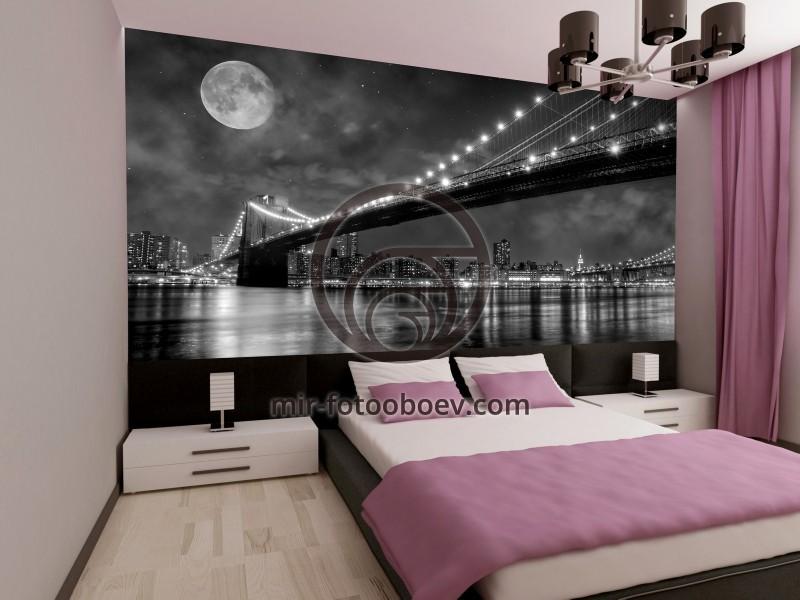 Дизайн фотообои для спальни